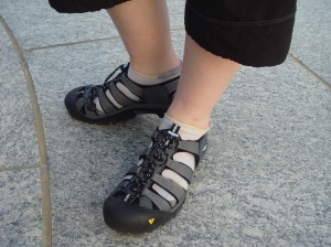 Styling new Keen Cycling Sandals