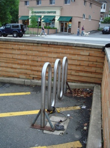 A very sad bike rack