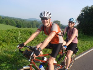 Ed and MG on the Warrenton 200K Route