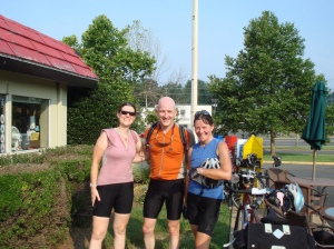 MG, Ed and Maile at the Finish