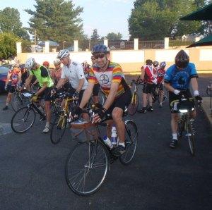 NC randonneur Mike Dayton at the start in Warrenton