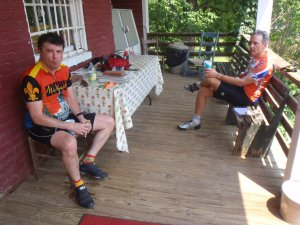 Eric and Steve at the Laurel Mills Store