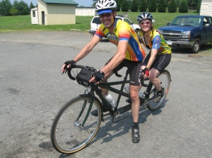 Kelly and Mary leaving Orlean for the final leg. Courtesy Bill Beck.