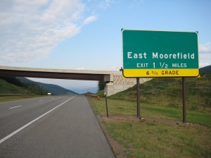 Toward East Moorefield, W.V.