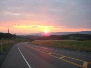 Sunrise west of Wardensville, W.V.