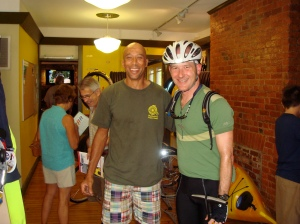 Ed and Felkerino at the Pedal and Paddle