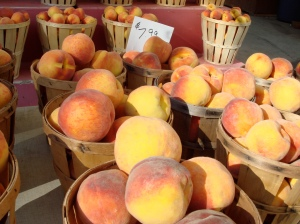 Delicious fall peaches