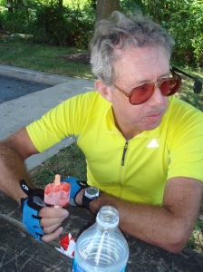 Mike hones his PAC Tour frozen treat skills