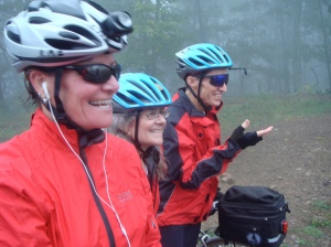 Maile, Crista and Chuck at the summit of CR12