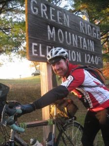 Rick at the top of Green Ridge Mountain (courtesy Bill Beck)
