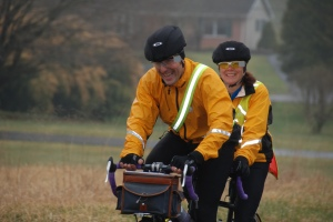Ron and Barb Anderson came south for another fun day on the tandem. (Courtesy Bill Beck)