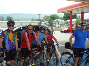 Another Saturday at a Sheetz with your riding buddies