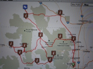 The map of the days of the High Country 1200K.