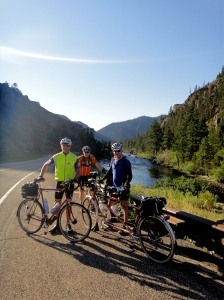 Dave, Bill and me at Poudre Canyon. Courtesy MG.