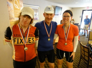 Jeff, me and MG with our finisher medals. Courtesy MG.