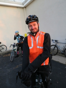 Chris looking good and visible in the Mavic Vision Vest.