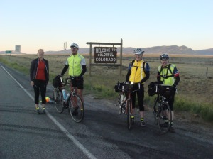 On the Colorado-Wyoming Border, just after dawn.