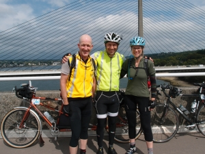 Me, Jon and MG at Brest. We've got the L2S waterproof vests.