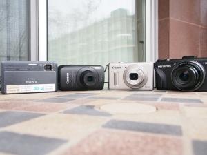Sony TX9, Canon SD4000 IS, Canon S100, Olympus XZ-1.