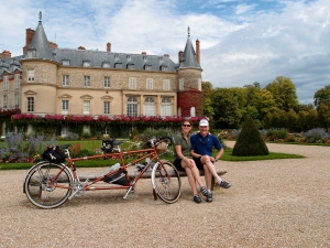 The Speedster and us at Rambouillet, France