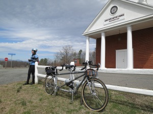 Time for a roadside break on Blue Ridge Turnpike