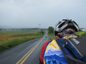 Lingering rain on Back Road (courtesy MG)