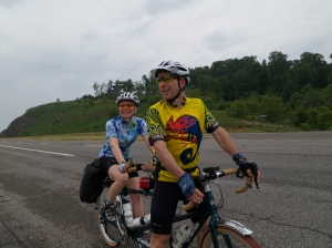 Cindy and John over Rt. 55 into West Virginia