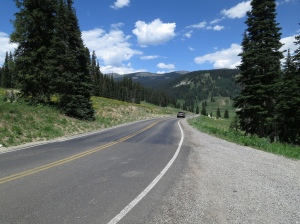 Over the top of Kebler Pass, now down into Crested Butte.