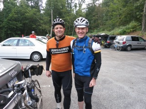 Tom Rosenbauer and me. Tom was riding with us today.