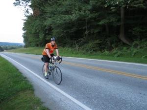 Tom R. finishes at dusk.