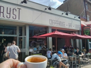 Espresso at Tryst. Very Good.