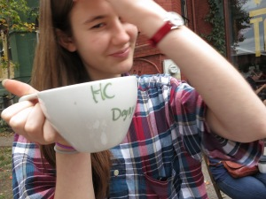 DF and the hot chocolate.