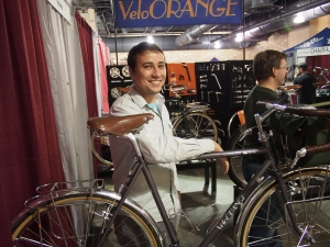 Igor at the Velo Orange booth. Nice bikes, nice folks.