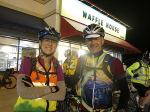 Another rando adventure starts at a Waffle House. Courtesy Bill Beck.