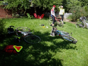 Randonneur yard sale in Crozet.