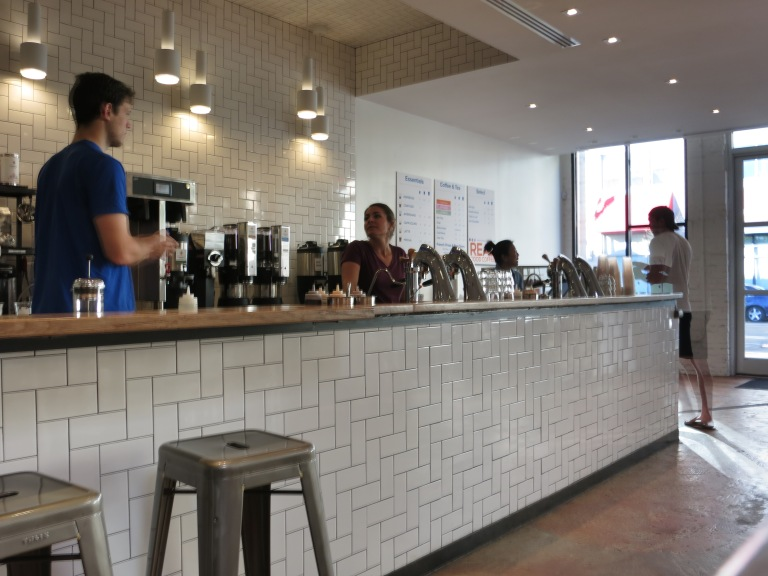 Compass Coffee, modern interior.