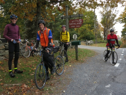 Our randonneur group, at Gapland.
