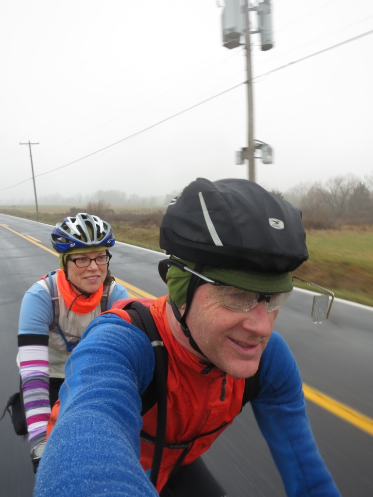Cold and damp, let's ride a century