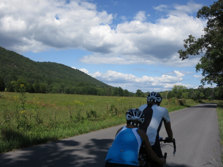 Riding along the Capon River
