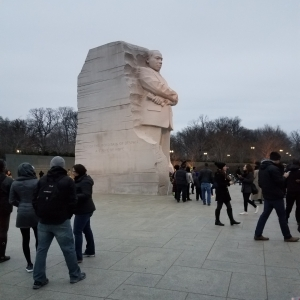 Twilight at the Martin Luther King Jr. Memorial